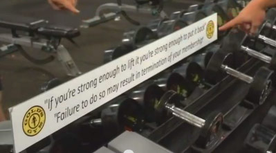 gold s gym message